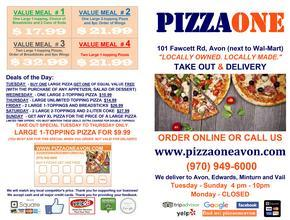 PIZZA ONE AVON Picture Thumbnail - Pizza Delivery - Avon