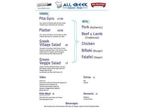 All Greek Lunch & Dinner Menu -  - Bradenton