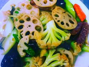 Asian Garden Restaurant Stir Fried Lotus Roots - Asian Food Delivery - Boston