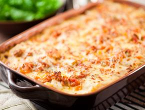 Marinos Italian Pasta And Pizza Baked Casserole - Italian Food Delivery - Lewisville