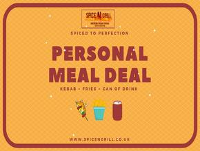 Spice N Grill Personal Meal Deal - American Food Delivery - Portsmouth