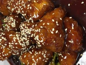 Yum Asian Bistro sesame chicken -  - frisco