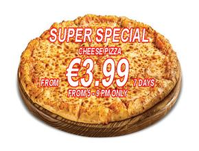 Peter's Pizza Bray SUPER CHEESE SPECIAL - Burger Delivery - Bray