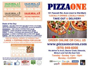 PIZZA ONE AVON Front - Pizza Delivery - Avon