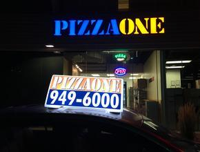 PIZZA ONE AVON LED Toppers - Pizza Delivery - Avon