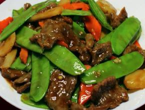 Szechuan Cuisine Beef and Snow Peas -  - Glendale