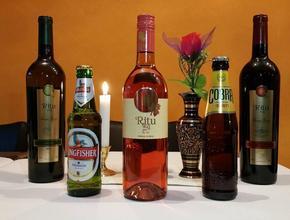 GOLDEN INDIAN Indisk øl og 5 stjernet Indisk rødvin - Indisk Madudbringning - Lyngby