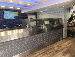 Fiddlers Elbow Fish & Chips Fryer after renovation -  - Leintwardine