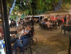 Aphrodite's Rock Microbrewery Courtyard by Night -  - Tsada