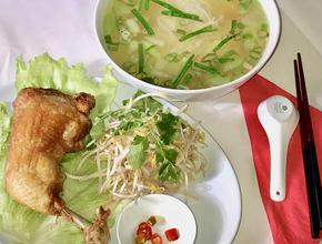 West End Garden Crispy Chicken & Clear Noodle Soup - Vietnamese Food Delivery - west end