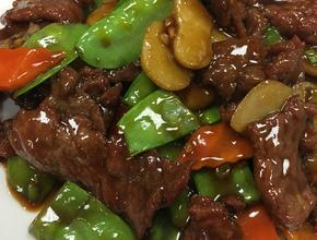 Yum Asian Bistro snow peas beef -  - frisco