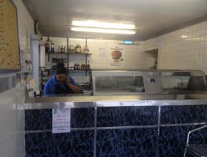Fiddlers Elbow Fish & Chips Fryer before renovation -  - Leintwardine