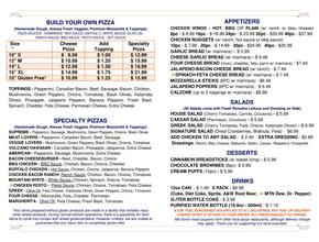 PIZZA ONE AVON Back - Pizza Delivery - Avon