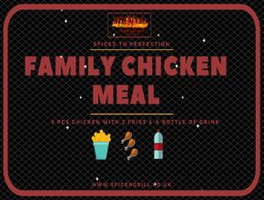 Spice N Grill Family Chicken Meal - American Food Delivery - Portsmouth